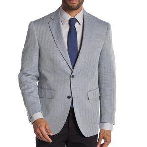 Louis Raphael Slim Fit Striped Pattern Blazer